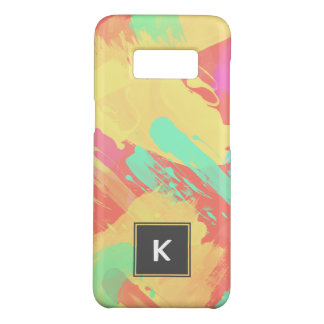 summer yellow orange mint pink coral brushstrokes Case-Mate samsung galaxy s8 case