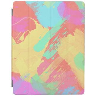 summer yellow orange mint pink coral brushstrokes iPad smart cover