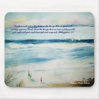 summerbeachwatercolor, Brothers and sisters,thi... Mouse Pad