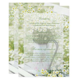 Summerfield Daisies Camomile Flower Floral Wedding Card