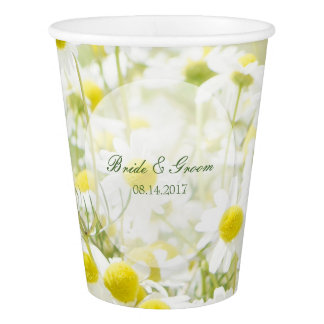 Summerfield Daisies Camomile Flower Floral Wedding Paper Cup