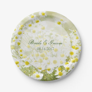 Summerfield Daisies Camomile Flower Floral Wedding Paper Plate