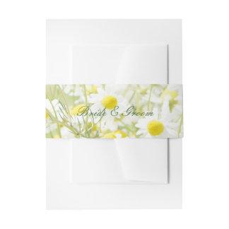 Summerfield Daisies Camomile Flower Wedding Invitation Belly Band
