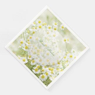 Summerfield Daisies Camomile Flower Wedding Paper Dinner Napkin