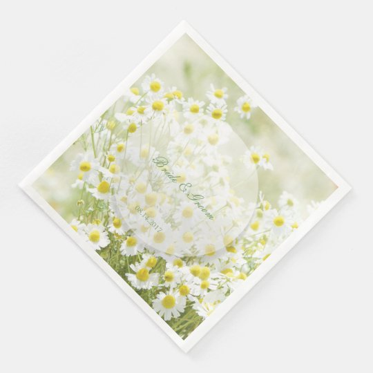 Summerfield Daisies Camomile Flower Wedding Paper Napkins