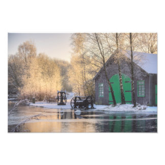 Summerlee Heritage Park in the Snow Photo Print