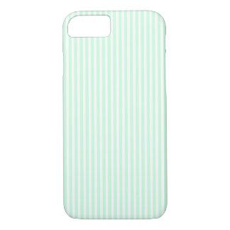 SummerMint Pale Green Mint & White Stripe iPhone 7 Case