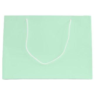 Summermint Pastel Green Mint for Summer Gazebo Large Gift Bag