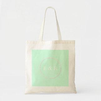 Summermint Pastel Green Mint Wedding Budget Tote Bag