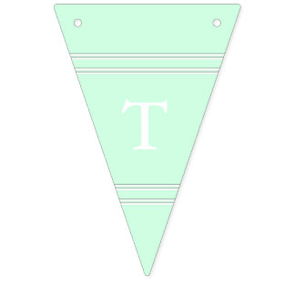 Summermint Pastel Green Mint Wedding Bunting Flags