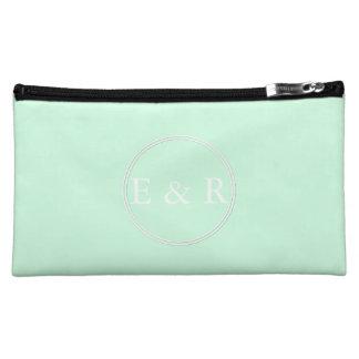 Summermint Pastel Green Mint Wedding Cosmetic Bag