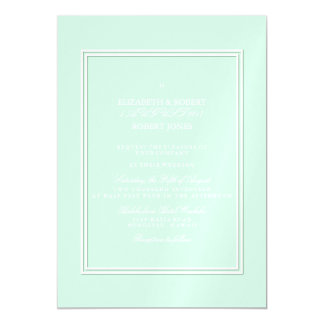 Summermint Pastel Green Mint Wedding Magnetic Invitations