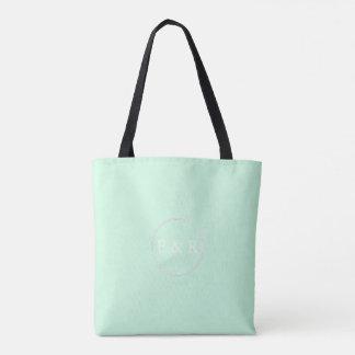 Summermint Pastel Green Mint Wedding Tote Bag