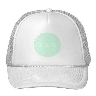Summermint Pastel Green Mint Wedding Trucker Hat