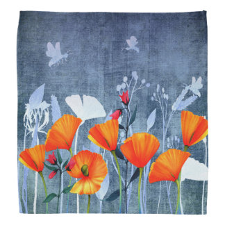 Summernight- Shadow of a Poppy meadow Bandana