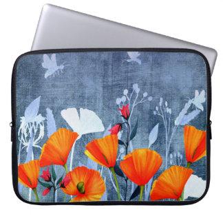 Summernight- Shadow of a Poppy meadow Laptop Sleeve