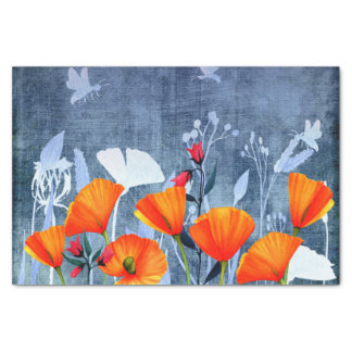 Summernight- Shadow of a Poppy meadow Tissue Paper