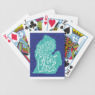 Summers Are Made In The Great Lakes - Apron Bicycle Playing Cards