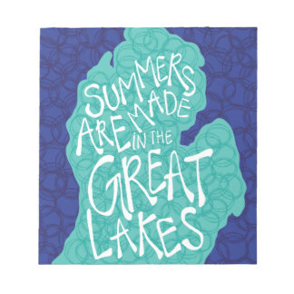 Summers Are Made In The Great Lakes - Apron Notepad