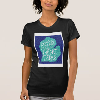 Summers Are Made In The Great Lakes - Apron T-Shirt