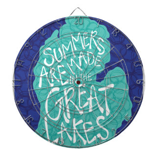 Summers Are Made In The Great Lakes - Blue Dartboard