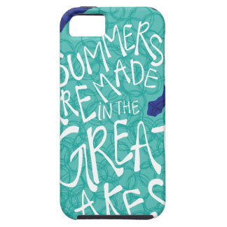Summers Are Made In The Great Lakes - Blue iPhone 5 Covers