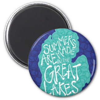 Summers Are Made In The Great Lakes - Blue Magnet