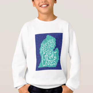 Summers Are Made In The Great Lakes - Blue Sweatshirt