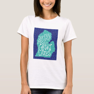 Summers Are Made In The Great Lakes - Blue T-Shirt