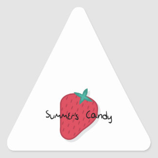 Summers Candy Triangle Sticker