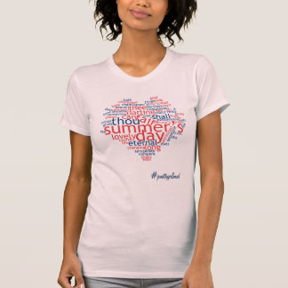 Summer's Day (Shakespeare) - poem as Wordcloud T-Shirt