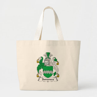 Summers Family Crest Large Tote Bag