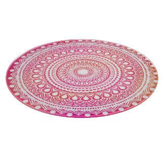 Summer's Fine Mandala Glass Cheeseboard Cutting Board