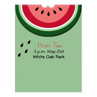 Summer's Juicy Watermelon Postcard