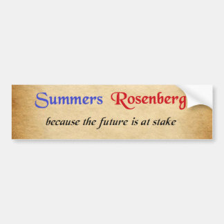 Summers / Rosenberg Campaign Sticker