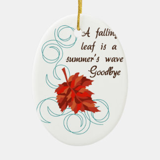 Summers Wave Goodbye Ceramic Oval Ornament