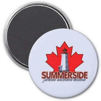 Summerside Lighthouse 3 Inch Round Magnet