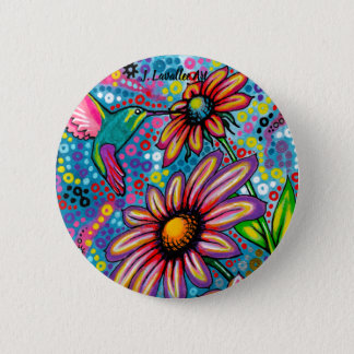 """Summertime"" 2 Inch Round Button"