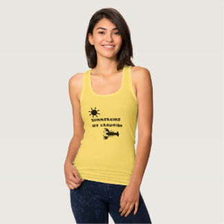 """Summertime and Crawfish"" Woman's Tank Top"