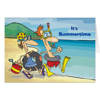 Summertime - Beach Card