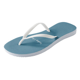 """""""""""Summertime Blue""""byTquinnartist Flip Flops"""