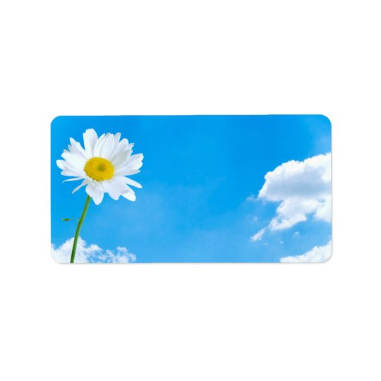 Summertime Daisy Clear Blue Skies Label