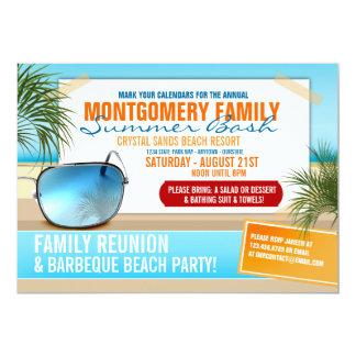 "Summertime Family Reunion Invitations 5"" X 7"" Invitation Card"