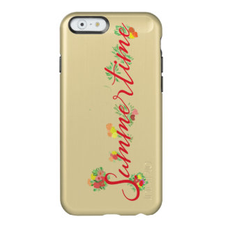 Summertime Floral -  Feather® Shine Golden Case Incipio Feather® Shine iPhone 6 Case