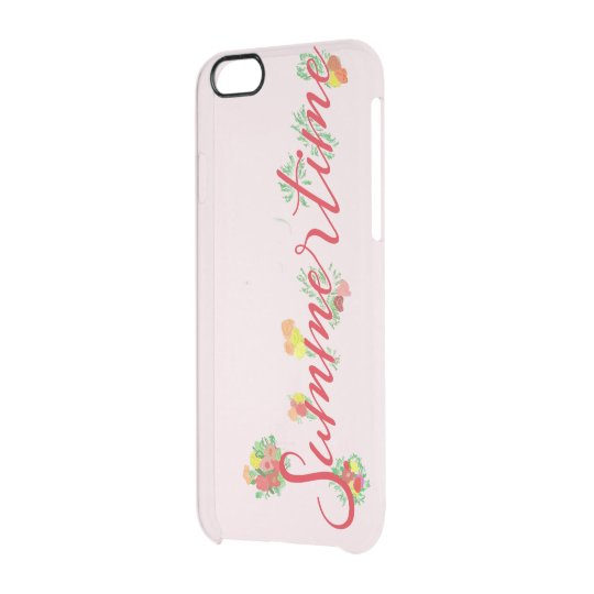 Summertime Floral - Pink Clearly iPhone Case
