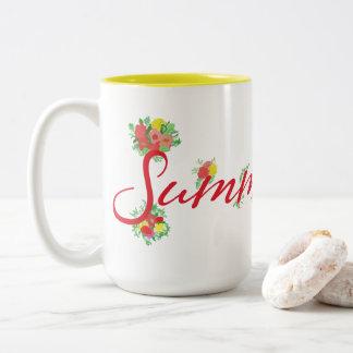 Summertime Floral - Two-Tone Mug