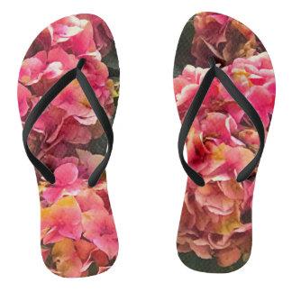 Summertime Flower Slippers Flip Flops