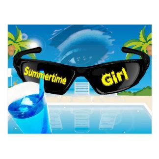 Summertime Girl Postcard