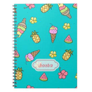 Summertime Ice-Cream Spiral Notebook