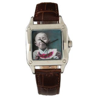 Summertime in Old Japan Vintage Watermelon Wrist Watch
